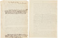 "Autographs:Authors, John Burroughs Signed Typescript of ""The Breath of Life.""..."