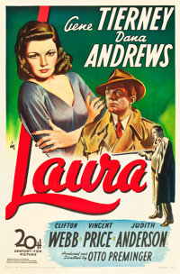 "Laura (20th Century Fox, 1944). One Sheet (27"" X 41"")"