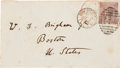 Autographs:Celebrities, Charles Darwin Envelope Addressed in His Own Hand....
