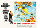 "Movie Posters:James Bond, You Only Live Twice (United Artists, 1967). British Quad (30"" X 40""). Style B.. ..."