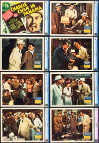 "Charlie Chan in Panama (20th Century Fox, 1940). CGC Graded Lobby Card Set of 8 (11"" X 14""). ... (Total: 8 Ite..."