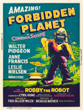 "Movie Posters:Science Fiction, Forbidden Planet (MGM, 1956). Poster (30"" X 40"").. ..."