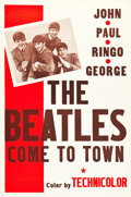 "Movie Posters:Documentary, The Beatles Come to Town (Pathé, 1963). One Sheet (27"" X 41"").. ..."