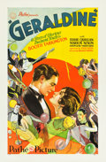 "Movie Posters:Romance, Geraldine (Pathé, 1929). MP Graded One Sheet (27"" X 41"") Style B....."