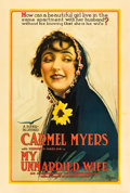 """Movie Posters:Drama, My Unmarried Wife (Universal Film Manufacturing, 1918). One Sheet(28"""" X 42"""").. ..."""