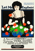 "Movie Posters:Comedy, Let Me Explain (Educational, 1921). MP Graded One Sheet (28"" X41"").. ..."
