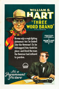 "Movie Posters:Western, Three Word Brand (Paramount, 1921). One Sheet (27"" X 41"").. ..."