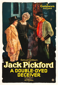 """A Double-Dyed Deceiver (Goldwyn, 1920). One Sheet (27"""" X 41""""). Crime"""