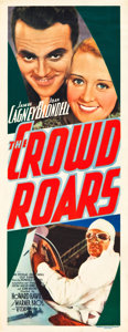 "The Crowd Roars (Warner Brothers-Vitagraph, 1932). Insert (14"" X 36"")"