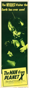 "Movie Posters:Science Fiction, The Man from Planet X (United Artists, 1951). Door Panel #1 (20"" X60"").. ..."