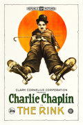 "Movie Posters:Comedy, The Rink (Clark-Cornelius Corporation, R-1922). One Sheet (27"" X41"").. ..."