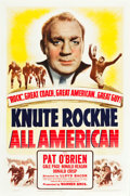 "Movie Posters:Sports, Knute Rockne - All American (Warner Brothers, 1940). One Sheet (27"" X 41"").. ..."