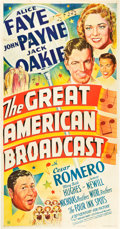 "Movie Posters:Comedy, The Great American Broadcast (20th Century Fox, 1941). Three Sheet (41"" X 81"") Style A.. ..."