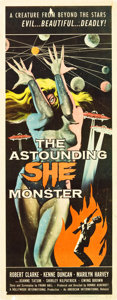 "Movie Posters:Science Fiction, The Astounding She Monster (American International, 1958). Insert(14"" X 36""). .. ..."