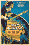 "Movie Posters:Science Fiction, The Man from Planet X (United Artists, 1951). Silk Screen Poster(40"" X 60"").. ..."