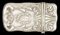 Silver Smalls:Match Safes, AN AMERICAN SILVER MATCH SAFE . Maker unknown, American, circa1900. Marks: STERLING . 2-1/4 inches long (5.7 cm). .3 tr...