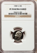 Proof Roosevelt Dimes: , 1989-S 10C PR70 Ultra Cameo NGC. NGC Census: (63). PCGS Population(139). Numismedia Wsl. Price for problem free NGC/PCGS ...