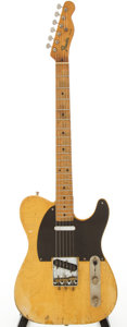 Musical Instruments:Electric Guitars, Circa 1952 Fender Telecaster Blonde Electric Guitar, Serial #2222....