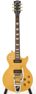 Musical Instruments:Electric Guitars, 2008 Gibson Les Paul '56 Re-Issue Gold Top Solid Body ElectricGuitar, Serial # 68281....