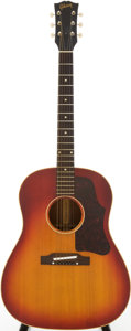 Musical Instruments:Acoustic Guitars, 1963 Gibson J-45 Cherry Sunburst Acoustic Guitar, Serial #77108....