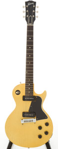 Musical Instruments:Electric Guitars, 1956 Gibson Les Paul Special TV Yellow Solid Body Electric Guitar,Serial # 6-0257....