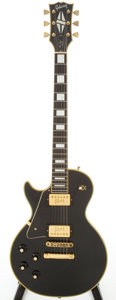 Musical Instruments:Electric Guitars, 1972 Gibson Les Paul Custom Lefty Black Electric Guitar, Serial #740701....