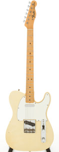 Musical Instruments:Electric Guitars, 1967 Fender Telecaster Olympic White Solid Body Electric Guitar, Serial # 205572. ...