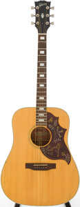 Musical Instruments:Acoustic Guitars, Mid 1970s Gibson Hummingbird Natural Acoustic Guitar, Serial #A602970....