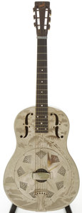 Musical Instruments:Acoustic Guitars, Early 1930s National Style O Nickel-Plated Resonator Guitar, Serial # S5221....