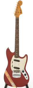 Musical Instruments:Electric Guitars, 1969 Fender Competition Mustang Candy Apple Red Solid Body ElectricGuitar, Serial # 347706...