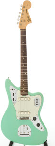 Musical Instruments:Electric Guitars, 1964 Fender Jaguar Re-Finished Sea Foam Green Solid Body ElectricGuitar, Serial # L33236...