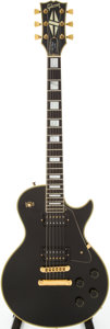 Musical Instruments:Electric Guitars, 1978 Gibson Les Paul Custom Black Solid Body Electric Guitar, Serial # 73628582....