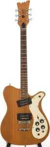 Musical Instruments:Electric Guitars, 1974 Mosrite Model 350 Stereo Natural Solid Body Electric Guitar,Serial # A0227....