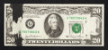 Error Notes:Ink Smears, Fr. 2073-G $20 1981 Federal Reserve Note. Very Fine+.. ...