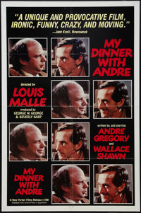 "My Dinner with Andre (New Yorker Films, 1981). One Sheet (27"" X 41""). Drama"