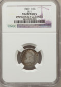 Bust Dimes, 1809 10C --Improperly Cleaned--NGC Details. VG. Jr-1. NGC Census:(0/39). PCGS Population (4/59). Mintage: 51,065. Numismedi...