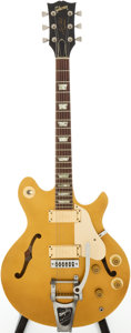 Musical Instruments:Electric Guitars, 1977 Gibson Les Paul Signature Gold Top Solid Body Electric Guitar,Serial # 272777092...