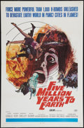 """Movie Posters:Science Fiction, Five Million Years to Earth (20th Century Fox, 1967). One Sheet(27"""" X 41""""). Science Fiction.. ..."""