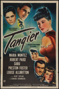 "Movie Posters:Adventure, Tangier (Universal, 1946). One Sheet (27"" X 41""). Adventure.. ..."