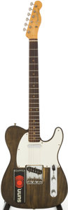 Musical Instruments:Electric Guitars, 1959 Fender Telecaster Re-Finished Walnut Solid Body ElectricGuitar, Serial # 38305...