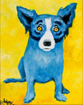 American:Modern, GEORGE RODRIGUE (American, b. 1944-). In a Yellow World,DATE. Oil on canvas. 14 x 11 inches (35.6 x 27.9 cm). Signed lo...