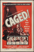 """Movie Posters:Exploitation, Caged (Warner Brothers, 1950). One Sheet (27"""" X 41"""").Exploitation.. ..."""