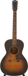 Musical Instruments:Acoustic Guitars, Late 1930s Gibson L-0 Sunburst Acoustic Guitar, #N/A....