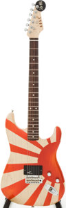 Musical Instruments:Electric Guitars, 2011 GBGC Custom Built Rising Sun Solid Body Electric Guitar,Serial # 51029....