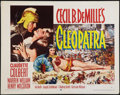 "Movie Posters:Historical Drama, Cleopatra (Paramount, R-1952). Half Sheet (22"" X 28"") Style A.Historical Drama.. ..."