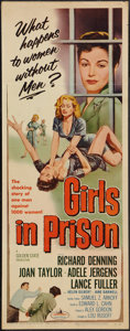 "Movie Posters:Bad Girl, Girls in Prison (American International, 1956). Insert (14"" X 36"").Bad Girl.. ..."