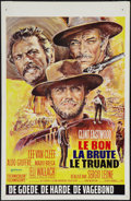 """Movie Posters:Western, The Good, the Bad and the Ugly (United Artists, R-1970s). Belgian (14"""" X 21""""). Western.. ..."""
