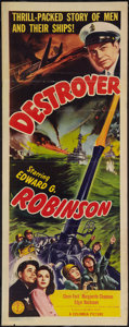 "Movie Posters:War, Destroyer (Columbia, 1943). Insert (14"" X 36""). War.. ..."
