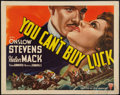 """Movie Posters:Crime, You Can't Buy Luck (RKO, 1937). Half Sheet (22"""" X 28""""). Crime.. ..."""