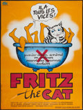 "Movie Posters:Animated, Fritz the Cat (Cinemation Industries, 1972). French Grande (47"" X63""). Animated.. ..."